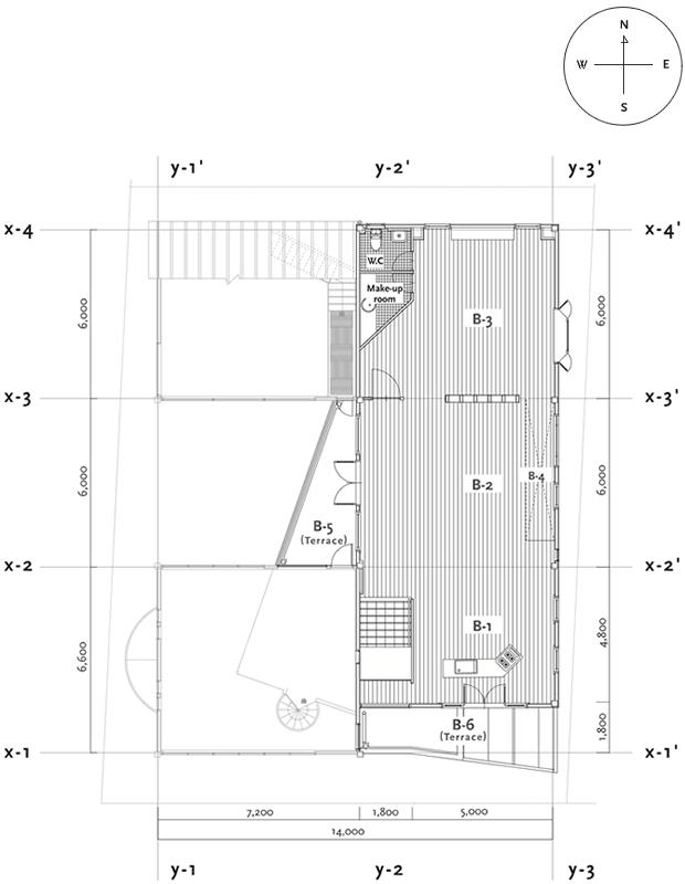 B Studio – 平面図